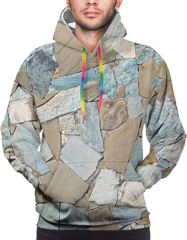 Hoodie For Teens Boys Girls Grey Brown Marble Hoodies Pullover Sweatshirt Pockets