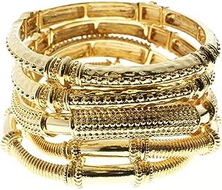 Stretch Bracelet-Set Gold-Tone