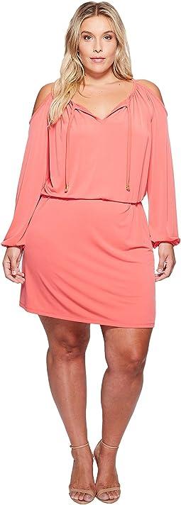 Plus Size MJ Cold Shoulder Dress