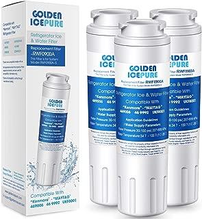 GOLDEN ICEPURE UKF8001 Refrigerator Water Filter Compatible with KENMORE 469006, 469992, MAYTAG,UKF8001P, AMANA UKF8001AXX, AQUA FRESH WF295, SWIFT GREEN SGF-M10 (3 Packs)