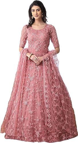 Women s Net A Line Floor Length Dress PPP DRE Peach XL
