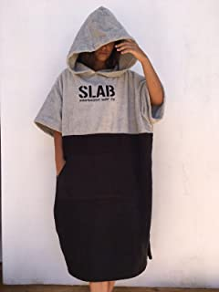 comprar comparacion Slab-Poncho Toalla Clear Grey and Black Talla M/L