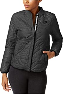 Nike Womens Quilted Black Insulated Primaloft Jacket 854747 010