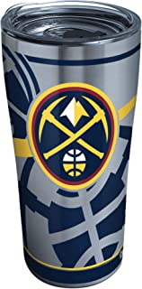 Tervis NBA Denver Nuggets Paint Stainless Steel Insulated Tumbler with Clear and Black Hammer Lid, 20oz, Silver
