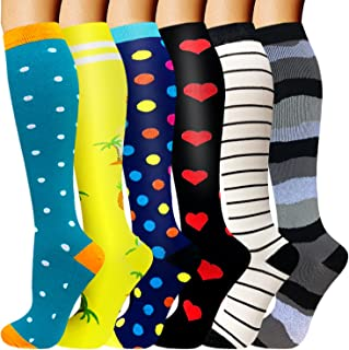 Compression Socks for Women & Men Circulation(6 pairs) - Best Support for Running,Nurses,Hiking,Cycling,Medical