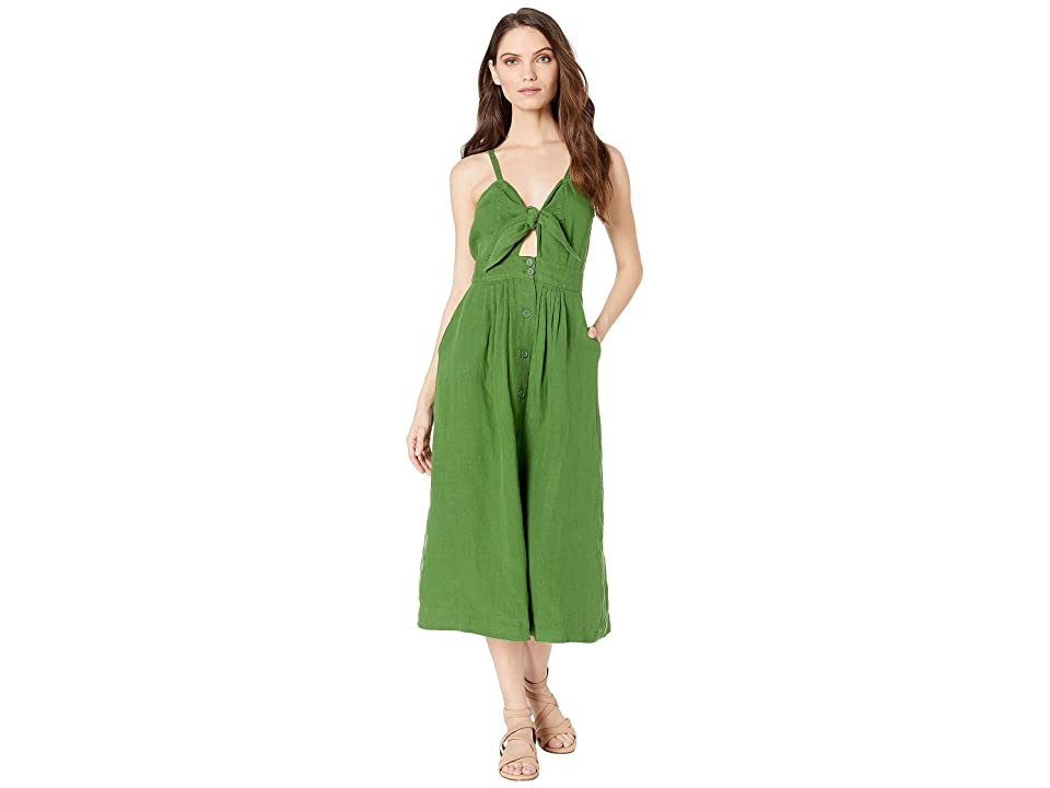 Juicy Couture Washed Linen Dress (Pine) Women