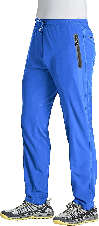 MAGCOMSEN Men's Quick Dry Running with Jogger Over item handling ☆ Pants High material Pocke Zipper