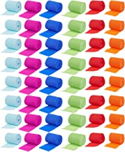 48-Pack Party Streamers - Crepe Paper Rolls in 6 Assorted Colors - Perfect Supplies for Craft Projects, DIY, Theme Parties and Event Decorations, 32 Feet Each, 1536 Feet Total