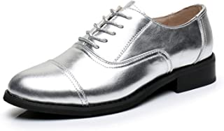 9a81d7603d0 Wanyesta Women Genuine Leather Shoes US Size Vintage Flat Shoes Round Toe  Handmade Oxford Shoes