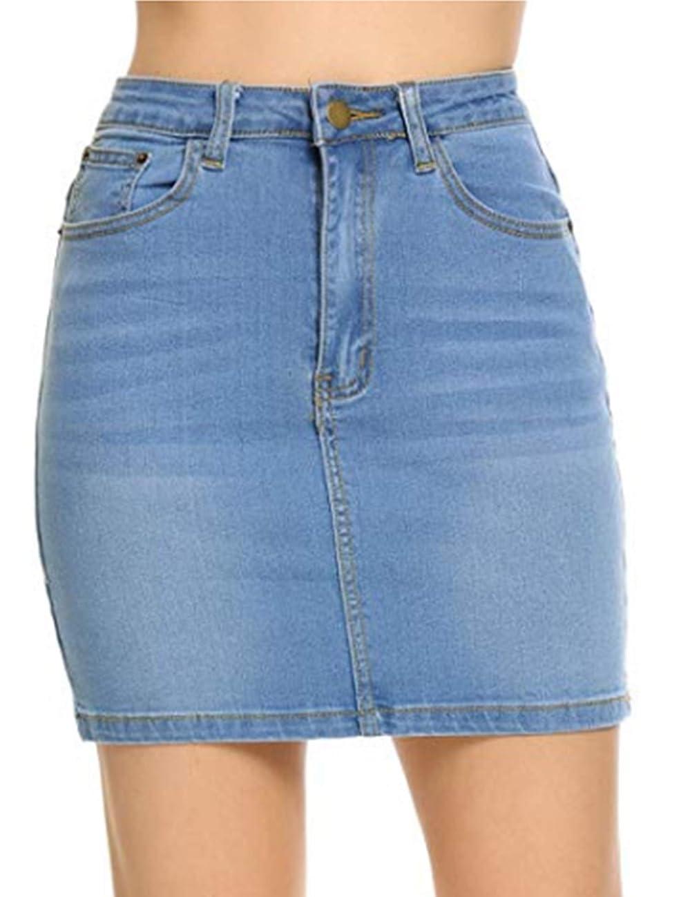 Women Stretch Denim Mini Skirt