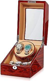 SZLJF - Caja enrolladora de Reloj Universal Profesional Auatic 2 + 3 con Motor silencioso Exterior de Piano de Madera Maciza de Primera Calidad y Almohadas Suaves y Flexibles para Relojes para Hombre y Mujer