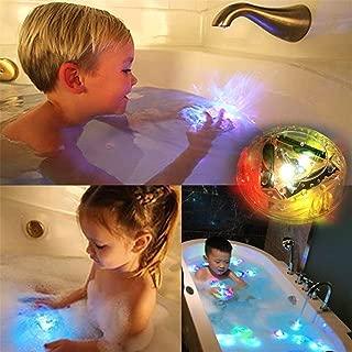 ألعاب حمام بإضاءة ال اي دي، لعبة عائمة ومتينة لنمط مبهج في حوض الاستحمام، كشافات محمولة للأطفال بإضاءة ال اي دي مناسبة للماء والحمام للأطفال الصغار الأولاد والبنات (6 مصابيح ال اي دي)
