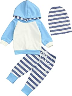 Baby Boys Girls Clothes Long Sleeve Hoodie Tops Sweatsuit Long Pants Outfit Set