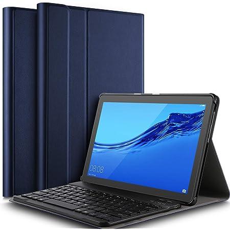 IVSO Teclado Estuche para Huawei MediaPad T5 10 (QWERTY English), Slim Stand Funda con Removible Wireless Teclado para Huawei MediaPad T5 10 10.1 ...