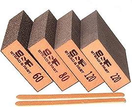 S&F STEAD & FAST Sanding Sponge, 60 80 120 220 Coarse Medium Fine Grit Sanding Blocks, Sander Sponges for Drywall Metal, S...