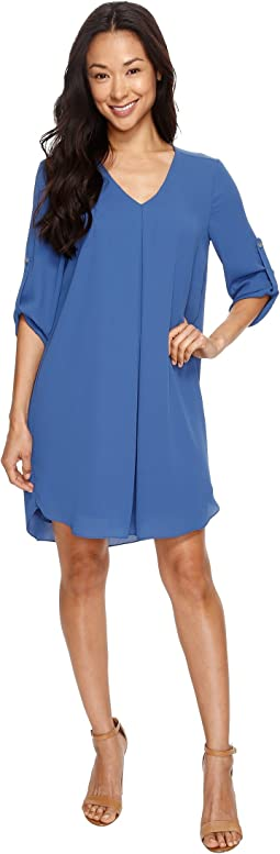 Roll-Up Sleeve Dress
