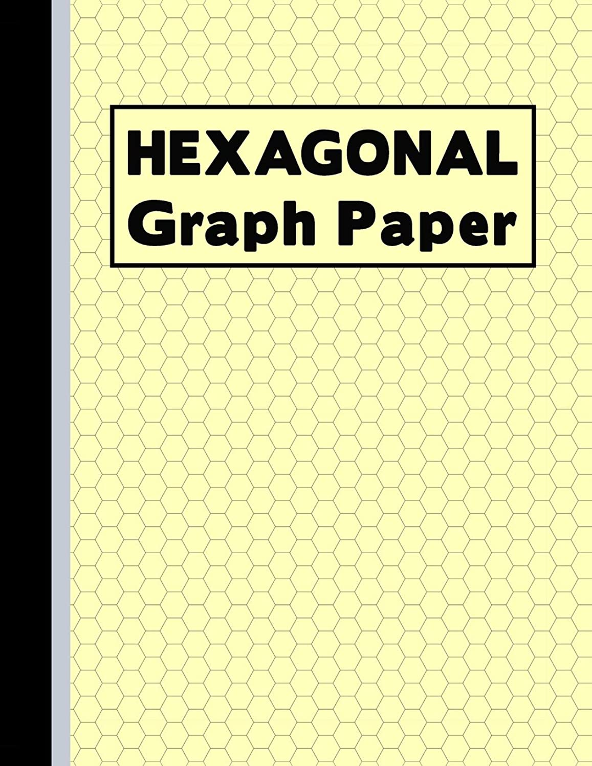 感じる作成者仲人Hexagonal Graph Paper: Small Hexes Notebook Yellow (Grid Diagram Graph Notepad)