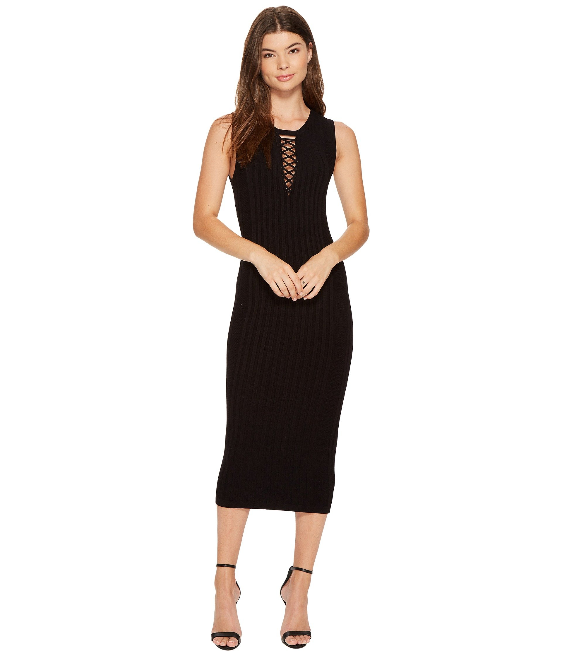 Vestido para Mujer XOXO Rib Stitch Lace-Up Midi Dress  + XOXO en VeoyCompro.net