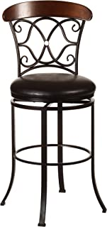 Hillsdale Furniture 5026-830 Dundee Swivel Bar Stool, Dark Coffee