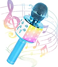 JMFinger Karaoke Microphone for Kids and Adults, Wireless Portable Handheld Bluetooth Microphone with LED Lights - Best Gi...