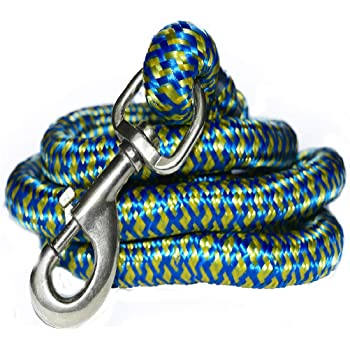Pawzone Giant and Strong Dogs Heavy Rope Leash with Hook (Color May Vary)