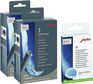 Jura Claris 71794 + 62715 Lot de 2 cartouches filtrantes Smart (2 x 3) + 6 tablettes de nettoyage