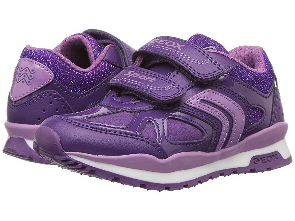 Geox Kids Pavel Girl 1 (Toddler/Little Kid) (Prune/Lavender) Girl