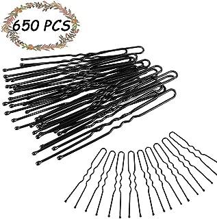 650Pcs Bun Hair Pins, Kalolary U Shaped Pins Hair Style Grip Pins Black Hair Pins For Women Girl Buns Up-Dos (6cm)