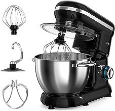 Stand Mixer, ROZI 660W 6-Speed Tilt-Head Food Mixer, Dough Mixer with 4.2-Quart Stainless Steel Bowl, Dough Hook, Mixing B...