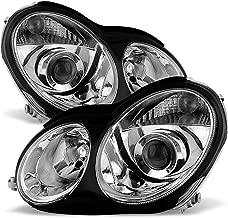ACANII - For [Halogen Model Only] 2001-2007 Mercedes Benz W203 C230 C240 C320 Projector Headlights Headlamps Left+Right