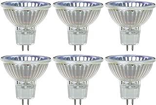 Sunlite Series 50MR16/CG/FL/120V/6PK Halogen 50W 120V MR16 Flood Light Bulbs, 3200K Bright White, GU5.3 Base, 6 Pack