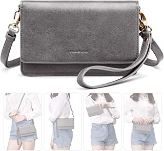 Women Small Crossbody Bag Cellphone Purse Wallet with RFID Card Slots 2 Strap..