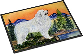 """Caroline's Treasures SS8183MAT Great Pyrenees Indoor Outdoor Doormat, 18"""" x 27"""", Multicolor"""