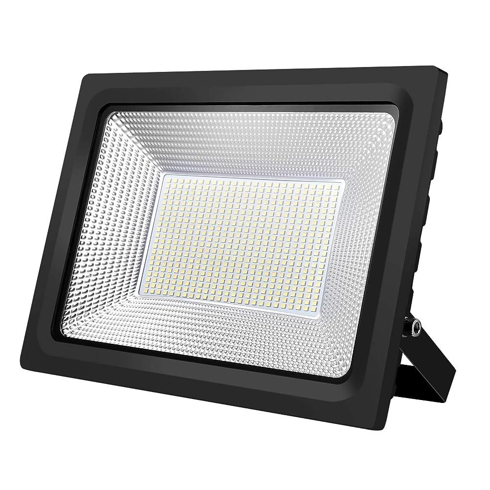 KIWEN LED投光器 フラッドライト 改良版 LEDライト 100W薄型投光器 屋外照明 看板灯 プラグ付き 1.8コード付き 昼光色 長寿命 取説付き 2年品質保証