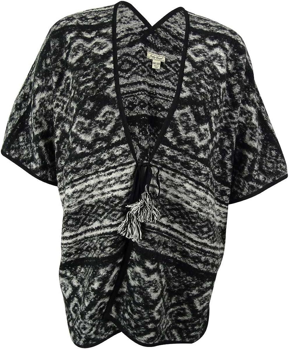 Lucky Brand Women's Wool Blend Tie Front Cardigan Sweater