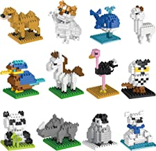 FUN LITTLE TOYS 12 Boxes Party Favors for Kids Mini Animals Building Blocks Sets for Goodie Bags