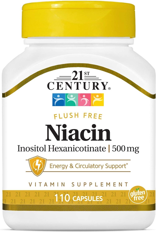21st Century Niacin 500 mg Flush 110Count Capsules OFFer List price Free