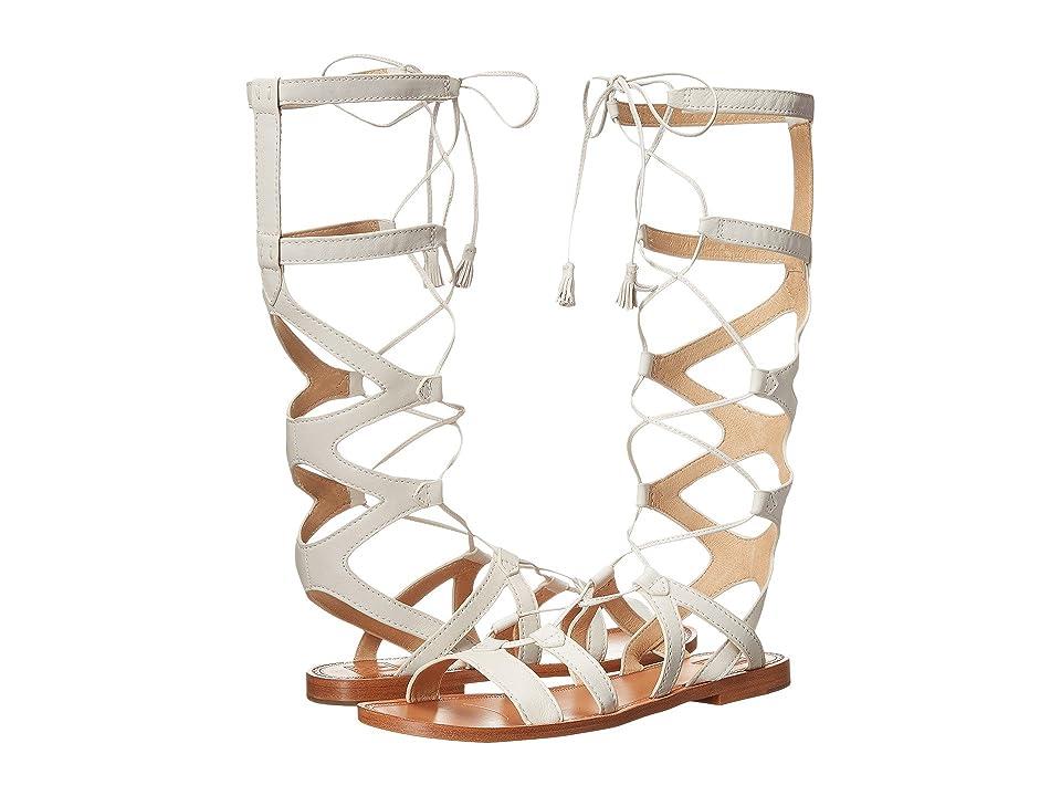 Frye Ruth Gladiator Tall Sandal (White Soft Full Grain) Women