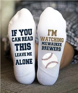Milwaukee Brewers Socks Funny Birthday Gifts Baseball Team