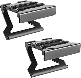 WALI TV Top Shelf 5 Inch Flat Panel Adjustable Clip Mount Holder for Streaming Devices, Media Boxes, Speakers and Home Decor (TSH003-2), 2 Pack, Black