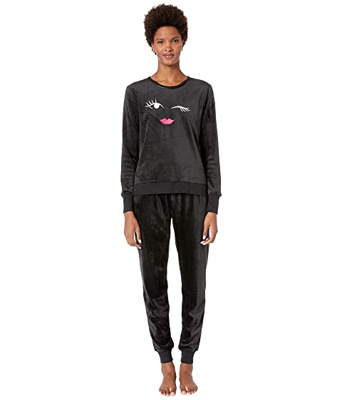 Kate Spade New York Stretch Velour Jogger Pajama Set
