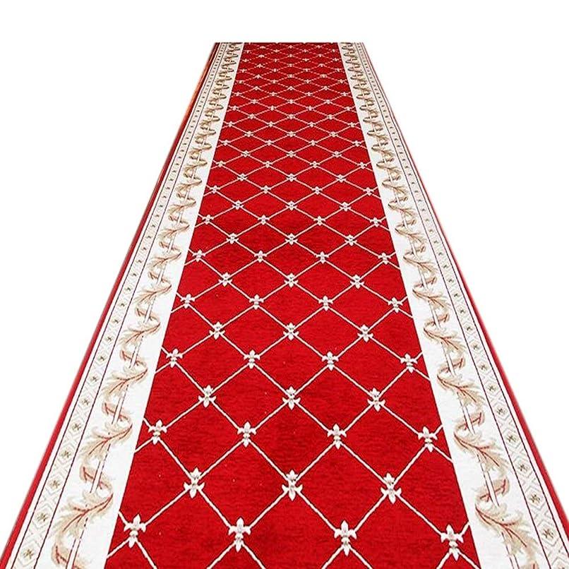 圧縮するゲージ地上でJIAJUAN 廊下のカーペット赤 ランナー 長いです 敷物 キッチン 耐摩耗性 ホール 効用 ドア マット 洗える 現代の、 7mm、 複数の長さ カスタマイズ可能 (サイズ さいず : 0.65x3m)