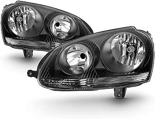 ACANII - For Black 2006 2007 2008 2009 Volkswagen Jetta GTI MK5 Headlights 06-09 Driver + Passenger Side