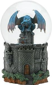 Dragon Castle Water Glitter Snow Globe Display