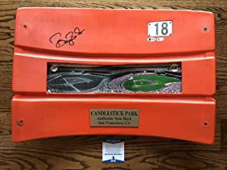 Barry Bonds Autographed Signed Autograph Candlestick Park Seat Back Sf Giants MLB & Bas Certificate of Authentic Memorabiliaity Included #E82144