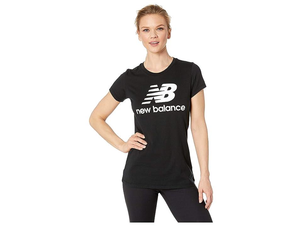 New Balance Essentials Logo Tee (Black/White) Women