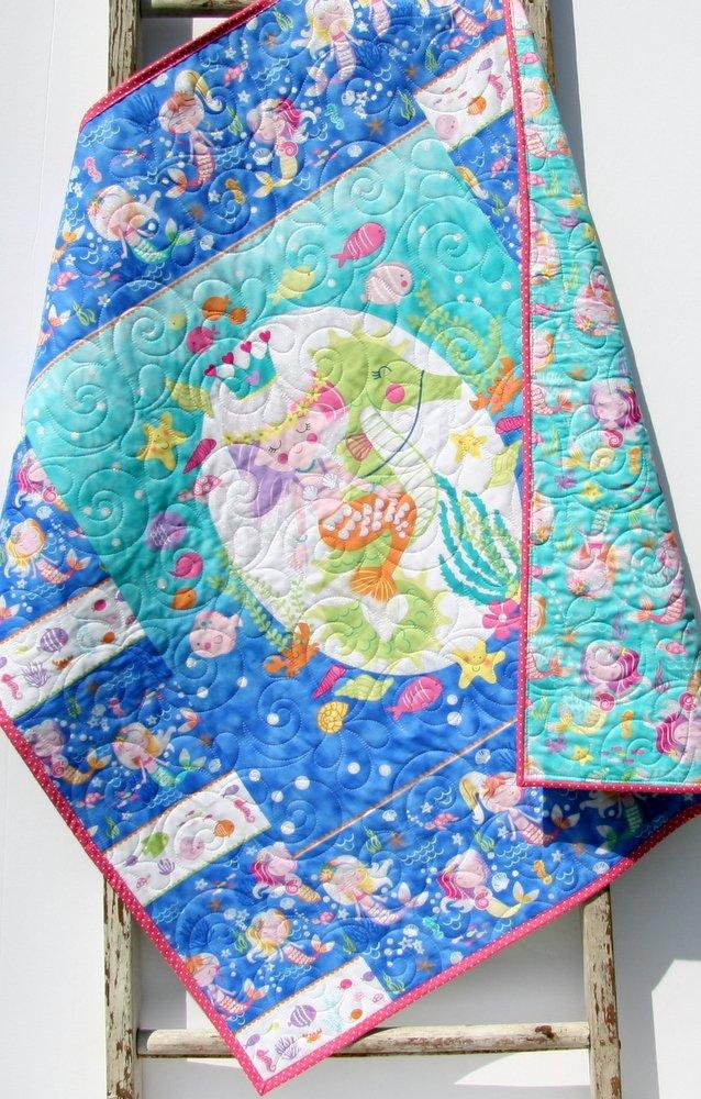 Baby Blanket Handmade Nautical Crib Bedding Girls Ranking TOP9 Max 87% OFF Qui Mermaid