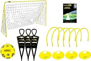Kickmaster Ultimate Football Challenge - Kit de entrenamiento completo, color amarillo/negro