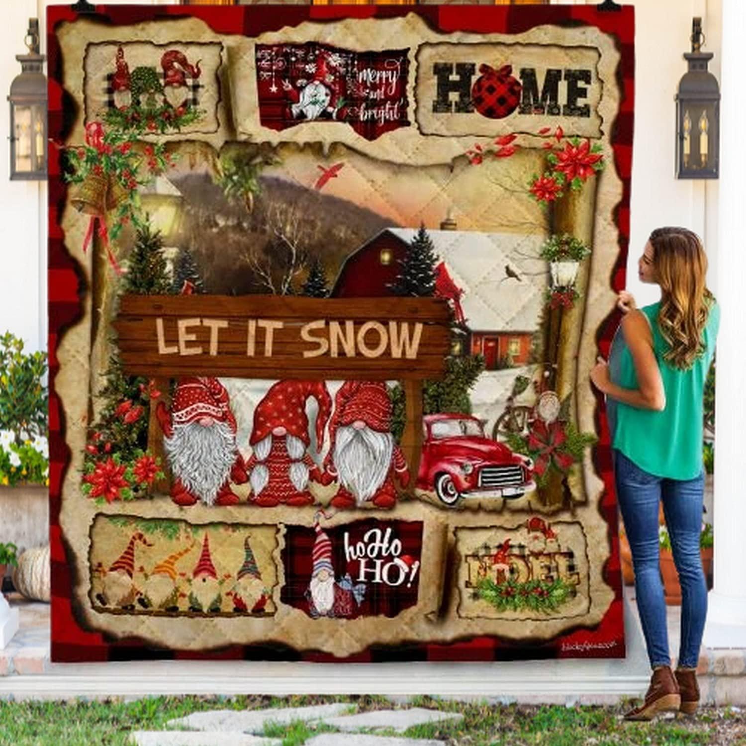 Let It Snow Max 84% OFF Gnome Christmas Bl Max 67% OFF Gift Throw For Birthday
