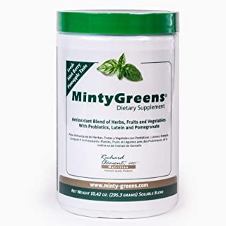 Minty Greens Dietary Supplement an Organic Fruit and Greens Super Food Powder Blend with Spirulina Herbs Probiotics Lutein...